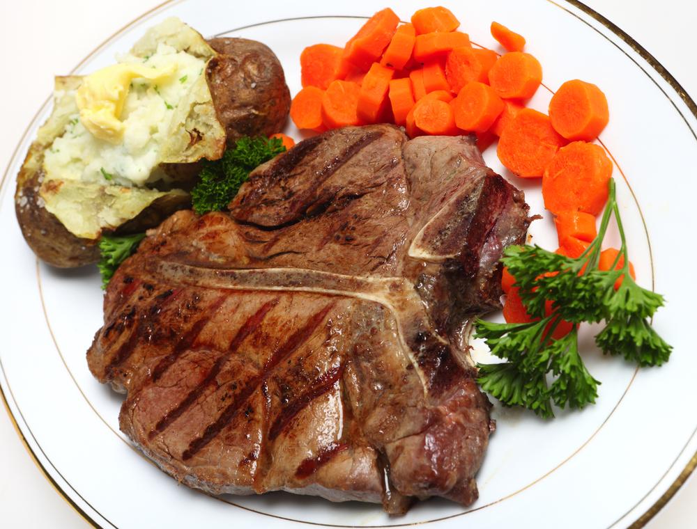 T-bone dinner